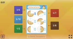 menebak pecahan pizza