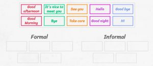 Greeting and Leave Taking worksheet