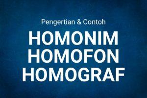 homonim homofon homograf