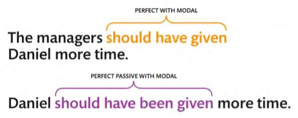 modal in perfect passive