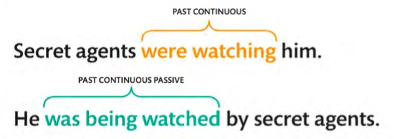 passive voice past continuous tense