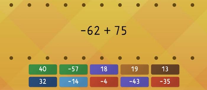 Soal Penjumlahan Bilangan Bulat Negatif