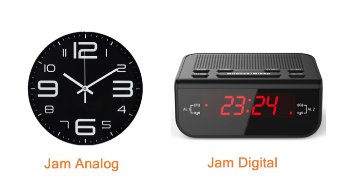 jam analog dan digital
