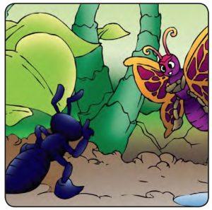 cerita fiksi anak semut dan kepompong